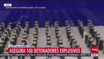 Aseguran detonadores de explosivos en aeropuerto de Tijuana