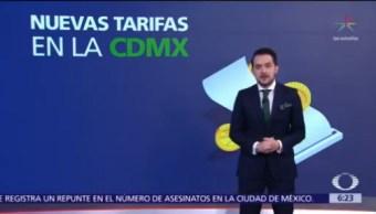 Aumentan las tarifas de impuestos en la Ciudad de México