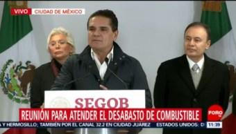 Aureoles afirma que sí hay combustible en Michoacán, organiza distribución