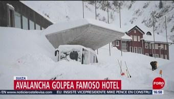 Avalancha de nieve invade hotel en Suiza
