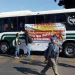 FOTO CNTE instala bloqueo en centro de la ciudad de Oaxaca 29 enero 2019