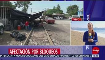Bloqueo en vías férreas en Michoacán afecta Manzanillo