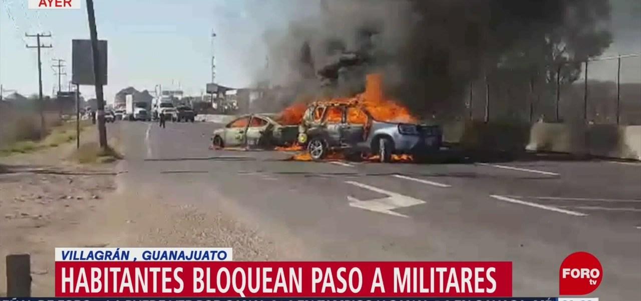 Foto: Bloqueos tras operativos de Semar contra huachicoleros en Guanajuato