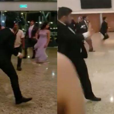 Video: Hijos de empresarios y políticos protagonizan batalla campal en boda