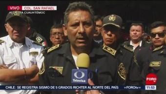 Bomberos bloquean Insurgentes Norte, en CDMX