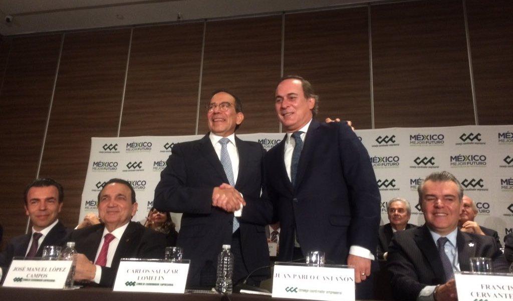 Carlos Salazar Lomelín es elegido nuevo presidente del CCE