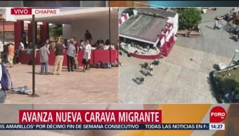 Casi mil 500 migrantes siguen su recorrido por Chiapas