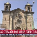 12 iglesias cerrarán por daños tras sismo de septiembre de 2017