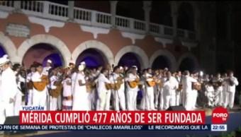 Celebran con serenata los 477 años de la fundación de Mérida