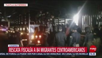 Chiapas Rescata A 84 Migrantes Centroamericano, Autoridades De Chiapas, 84 Migrantes Centroamericano, Trasladados En Camiones