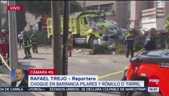 Choque deja 2 muertos en alcaldía de Álvaro Obregón