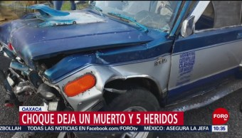 Choque deja un muerto y 5 heridos en el Istmo de Tehuantepec