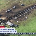 CNDH inicia investigación por explosión de ducto en Tlahuelilpan