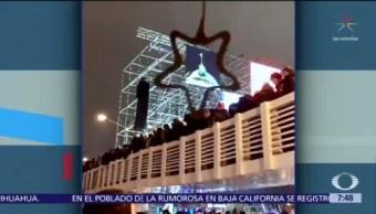 Colapsa puente de madera durante fiesta de Año Nuevo en Moscú