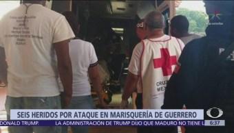 Comando armado acribilla a clientes de marisquería en Guerrero