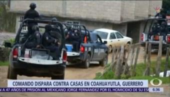 Comando irrumpe en comunidad de Guerrero