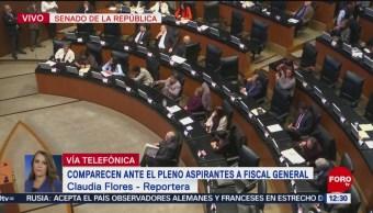 Comparecen aspirantes a Fiscalía General en pleno del Senado