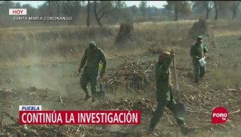 Continúa investigación por accidente aéreo en Puebla