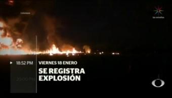 Cronología La Explosión En Tlahuelilpan Hidalgo
