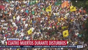 Cuatro muertos durante disturbios en Venezuela
