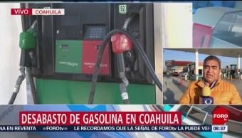 Desabasto de gasolina en Coahuila