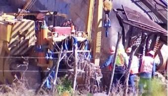Foto: Descarrilan siete tolvas de tren en Coquimatlán, Colima, 28 de enero 2019. (Twitter @berthareynoso)