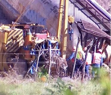Descarrilan siete tolvas de tren en Coquimatlán, Colima