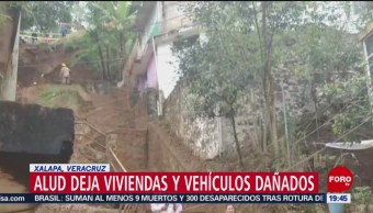 FOTO: Deslizamiento De Tierra Daña Casas En Veracruz, Deslizamiento De Tierra, Veracruz, Xalapa, 26 enero 2019