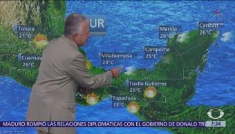 Despierta con Tiempo: Frente frío 30 favorece lluvias