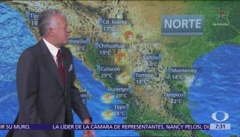 Despierta con Tiempo: Nieve en montañas de Baja California, Sonora y Chihuahua