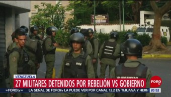 Detienen A 27 Militares Por Revelarse Contra Maduro