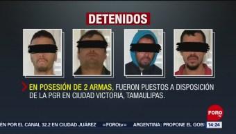 Detienen A 4 Hombres Con Armas En Tamaulipas, 4 Hombres Con Armas, Tamaulipas, Municipio De Jiménez