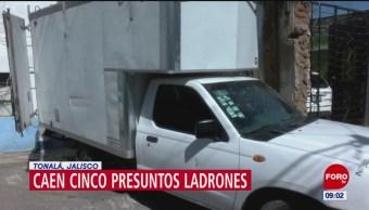 Detienen a cinco delincuentes en Jalisco
