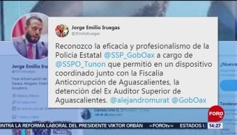 Detienen a extitular de Órgano de Fiscalización en Oaxaca