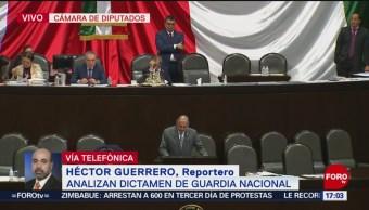 Diputados analizan dictamen de la Guardia Nacional
