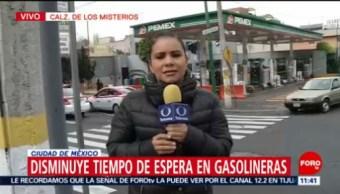 Disminuye tiempo de espera en gasolineras de la CDMX