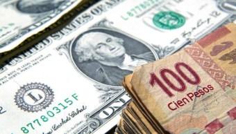 Dólar continúa en descenso, cierra en 19.59 pesos en bancos