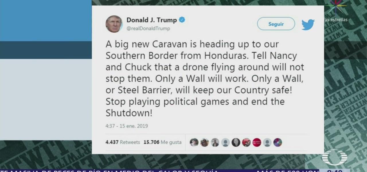 Donald Trump insiste en muro con México
