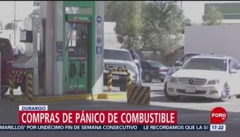 Foto, 26 enero 2019, Durango pide evitar compras de pánico de gasolina