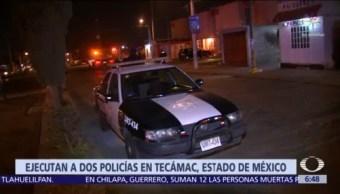Ejecutan a dos policías de Tecámac, Estado de México