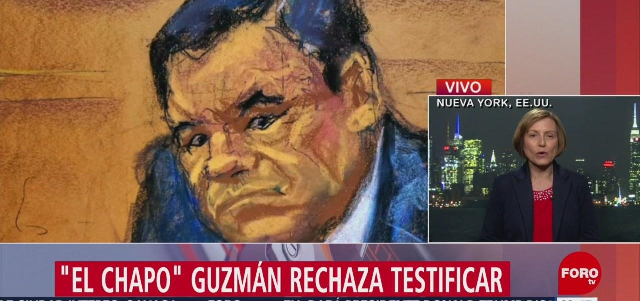 Foto: El Chapo Guzmán Rechaza Testificar 28 de Enero 2019