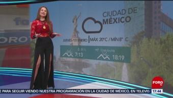 El clima con Mayte Carranco del 17 de enero de 2019