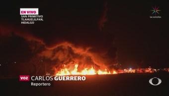 Equipos Emergencia Trabajan Sofocar Incendio Tlalhuelipan Hidalgo