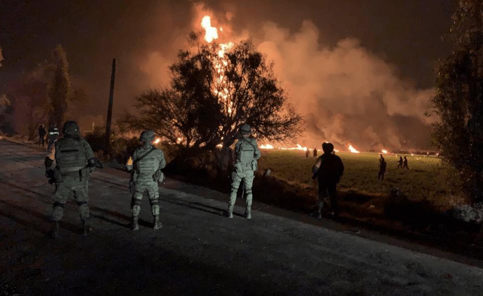 Explosión de oleoducto en Tlahuelilpan, Hidalgo. (AP)