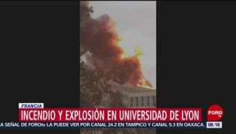 Explosión en Universidad de Lyon, Francia