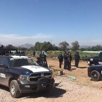 Federales enfrentan a huachicoleros en Cuautlancingo, Edomex