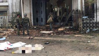 suman 20 muertos y 81 heridos explosiones en catedral de filipinas