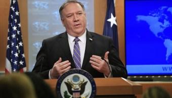 Foto: El secretario de Estado Mike Pompeo ofrece conferencia de prensa sobre Venezuela el 25 de enero del 2019