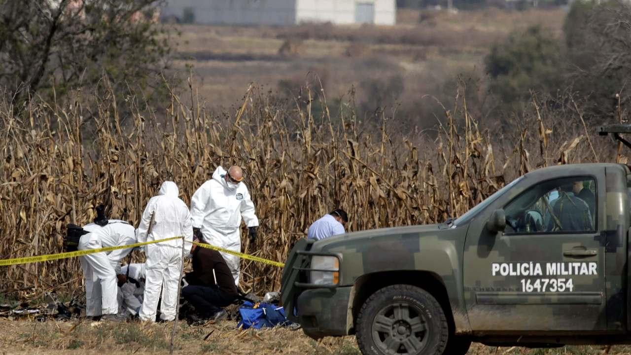 Puebla: Reanudan investigaciones de accidente de helicóptero