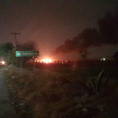 Tlahuelilpan: 21 muertos y 71 lesionados por explosión en toma clandestina